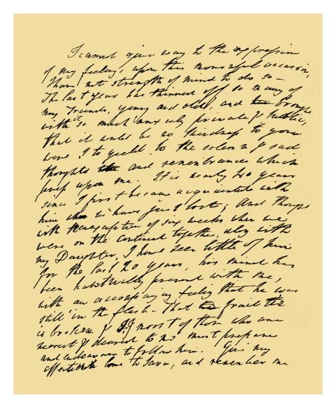 Handwriting「Autograph: William Wordsworth, 1834.」:写真・画像(8)[壁紙.com]