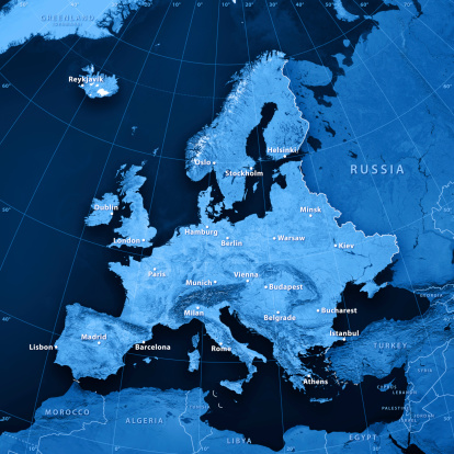 Munich「Europe Cities Topographic Map」:スマホ壁紙(19)