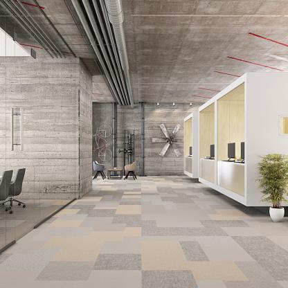 Ceiling「Modern open plan office interior」:スマホ壁紙(9)