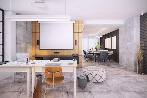 Projection Equipment「Modern open plan office interior」:スマホ壁紙(18)