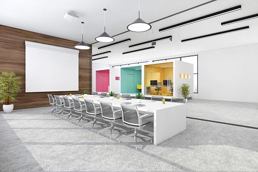 Projection Equipment「Modern open plan office interior」:スマホ壁紙(2)
