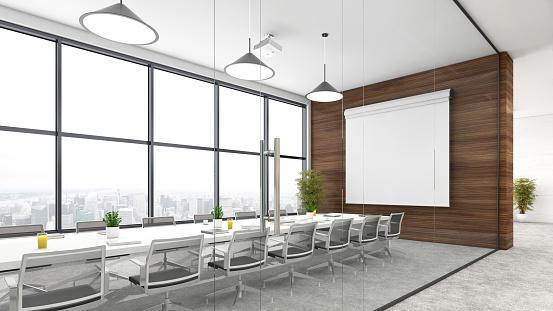 Open Plan「Modern open plan office interior」:スマホ壁紙(7)