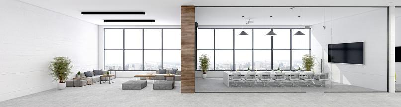 Projection Equipment「Modern open plan office interior」:スマホ壁紙(17)