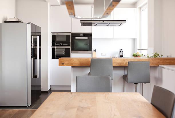 Modern open plan kitchen:スマホ壁紙(壁紙.com)