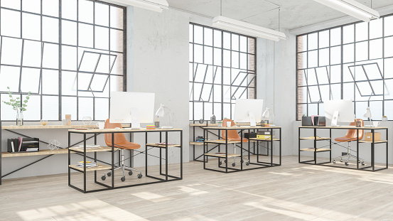 Studio - Workplace「Modern open office space」:スマホ壁紙(3)