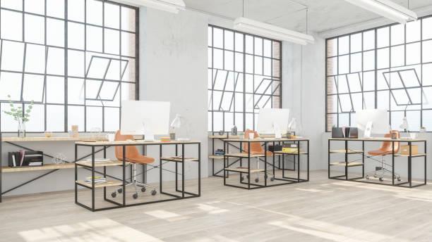 Modern open office space:スマホ壁紙(壁紙.com)