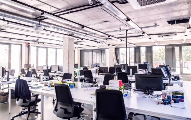Modern open-plan office:スマホ壁紙(壁紙.com)