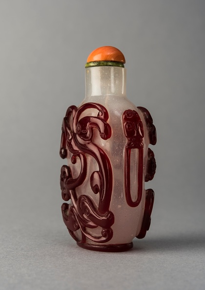 Big Cat「Clear Glass Snuff Bottle With Red Overlay」:写真・画像(9)[壁紙.com]