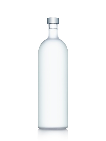 ガラス「ボトル入りウォーターを白で分離」:スマホ壁紙(2)