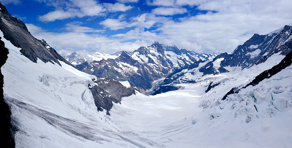 Pennine Alps「Aletsch Glacier Panoramic, Alps, Switzerland」:スマホ壁紙(19)