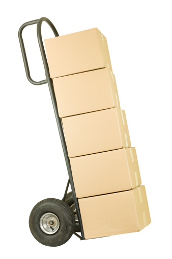 Moving Office「Movers Dolly with a Stack of Boxes」:スマホ壁紙(9)