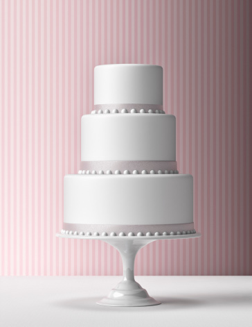 Wedding Cake「Tiered Fondant Cake with pink background」:スマホ壁紙(0)