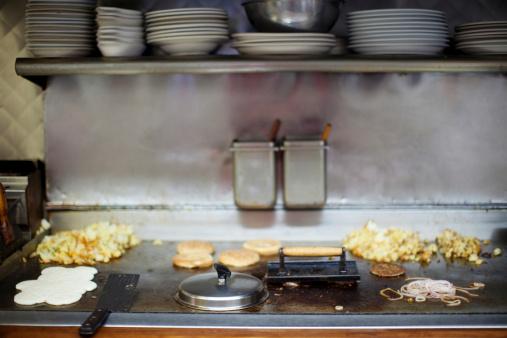 Griddle「Breakfast cooking on diner griddle」:スマホ壁紙(11)