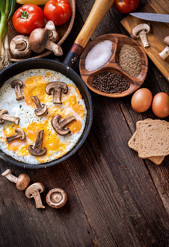 Fat - Nutrient「Breakfast: cooked eggs with mushrooms」:スマホ壁紙(13)
