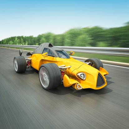 Hot Rod Car「yellow racecar」:スマホ壁紙(4)