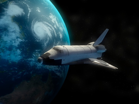 Space Shuttle Endeavor「Space Shuttle backdropped against Earth.」:スマホ壁紙(12)