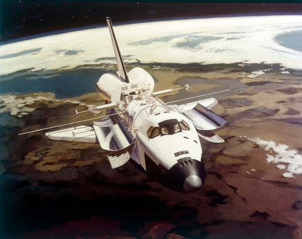 Space and Astronomy「Space Shuttle Orbiter In Flight」:写真・画像(8)[壁紙.com]