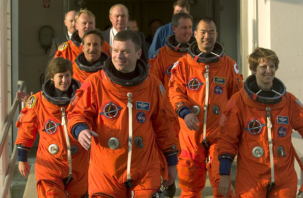 Japan Aerospace Exploration Agency「Discovery Crew Holds News Conference After Drill」:写真・画像(8)[壁紙.com]