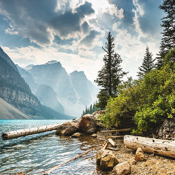 Moraine Lake in Banff National Park - Canada:スマホ壁紙(壁紙.com)