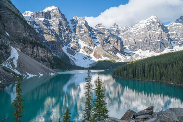 Moraine lake, Banff national park, Canada:スマホ壁紙(壁紙.com)