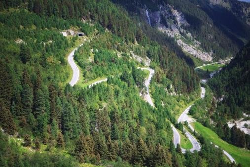 Hairpin Curve「Austrian Mountain Road」:スマホ壁紙(9)