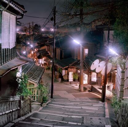 京都の夜「Kyoto street at night」:スマホ壁紙(18)