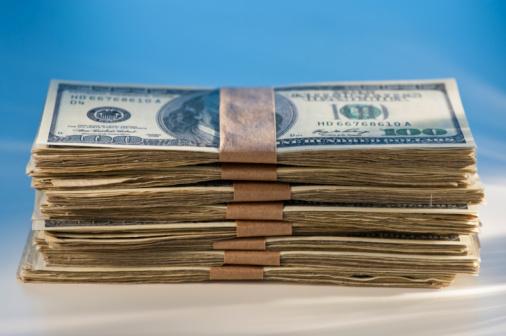 Currency「Stacks of hundred dollar bills」:スマホ壁紙(13)