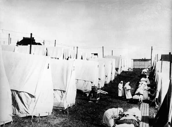 Spanish Culture「Influenza Epidemic Tent Hospital Camp」:写真・画像(2)[壁紙.com]