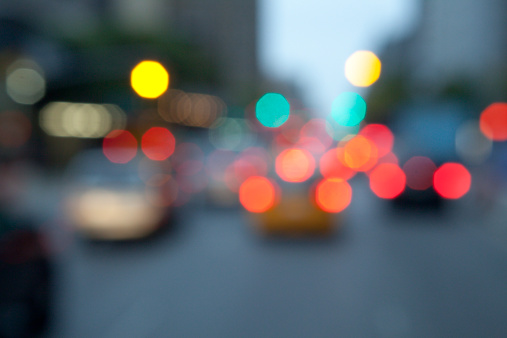 Traffic「Out of focus lights of NYC traffic」:スマホ壁紙(14)