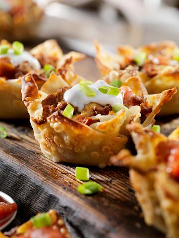 Sour Cream「Crispy Baked, Wonton Taco Bowls」:スマホ壁紙(6)
