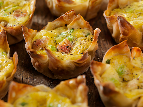 Wonton「Crispy Baked Wonton Egg Cups with Bacon, Cheddar Cheese and Green Onions」:スマホ壁紙(9)