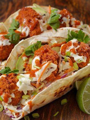 Chili Sauce「Crispy Baked Buffalo Wing Cauliflower Tacos」:スマホ壁紙(17)