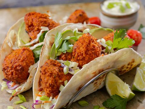 Chili Sauce「Crispy Baked Buffalo Wing Cauliflower Tacos」:スマホ壁紙(12)