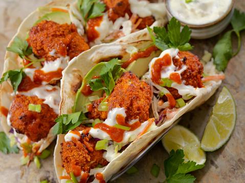 Chili Sauce「Crispy Baked Buffalo Wing Cauliflower Tacos」:スマホ壁紙(7)