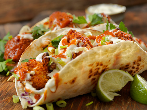 Chicken Wing「Crispy Baked Buffalo Wing Cauliflower Tacos」:スマホ壁紙(1)