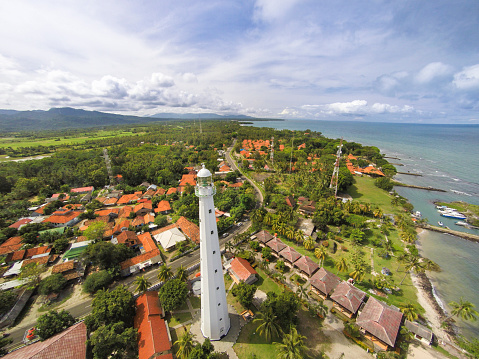 Krakatau - Volcano「Cikoneng Lighthouse in Anyer, Indonesia, from the air」:スマホ壁紙(16)
