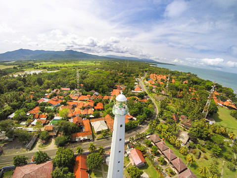 Krakatau - Volcano「Cikoneng Lighthouse in Anyer, Indonesia, from the air」:スマホ壁紙(17)