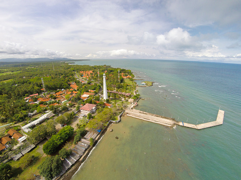 Krakatau - Volcano「Cikoneng Lighthouse in Anyer, Indonesia, from the air」:スマホ壁紙(15)
