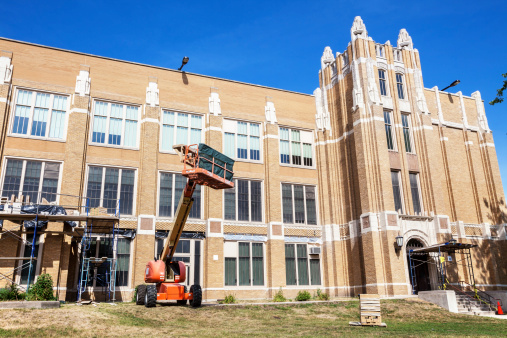 Construction Vehicle「School Renovation in Washington Heights, Chicago」:スマホ壁紙(13)