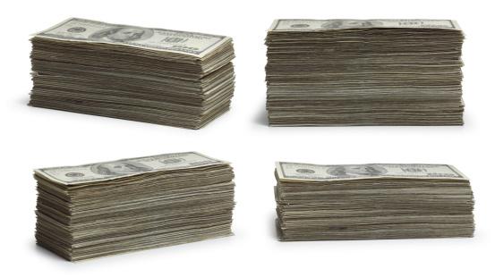 American One Hundred Dollar Bill「Stacks of Money」:スマホ壁紙(14)