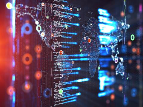 Big Tech「Abstract Digital network communication」:スマホ壁紙(11)