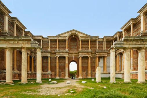 Roman「Turkey, Sardis, View of Roman Bath and Gymnasium」:スマホ壁紙(3)