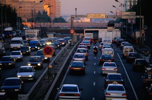 Dividing Line - Road Marking「Traffic Jam, Paris, France」:スマホ壁紙(18)