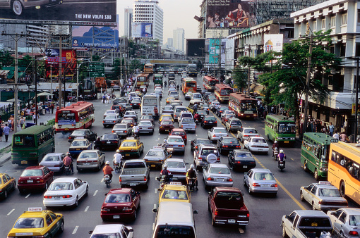 Motorcycle「Traffic Jam in Siam Square」:スマホ壁紙(6)