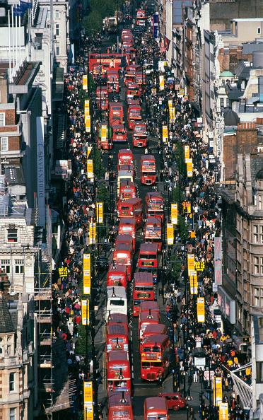 High Angle View「Traffic jam in Oxford Street. London, United Kingdom.」:写真・画像(10)[壁紙.com]