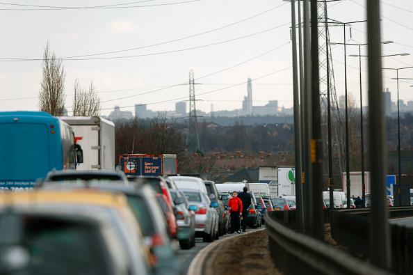 Traffic「Traffic jam on English motorway.」:写真・画像(13)[壁紙.com]