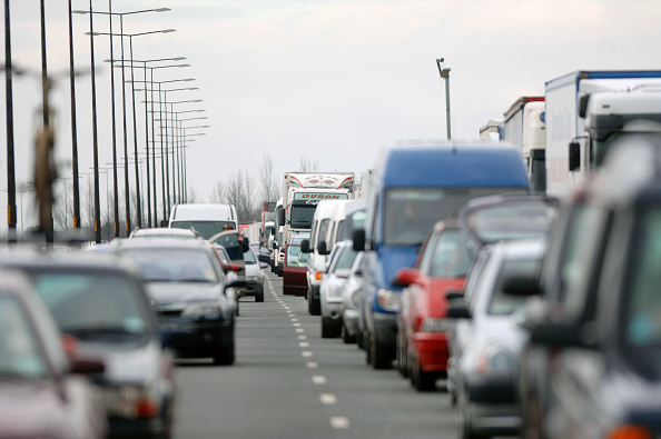 Roadblock「Traffic jam on English motorway.」:写真・画像(9)[壁紙.com]