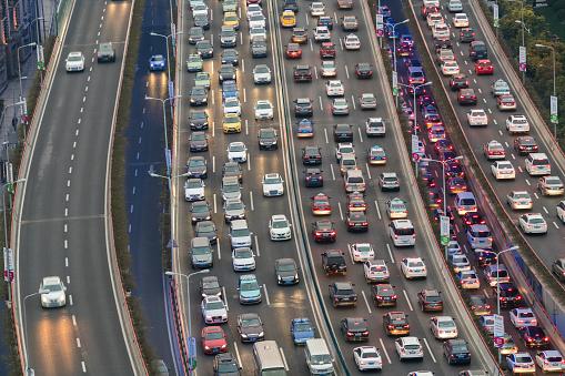 Elevated Road「Traffic jam, Shanghai, China」:スマホ壁紙(12)