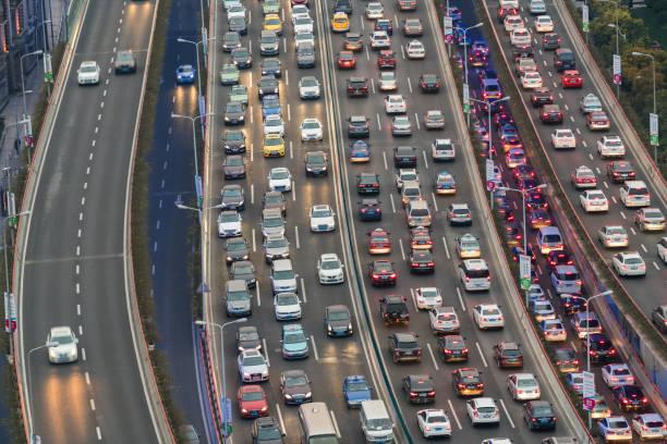 Traffic jam, Shanghai, China:スマホ壁紙(壁紙.com)