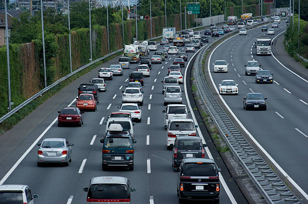 traffic jam,expressway,automotive society:スマホ壁紙(壁紙.com)